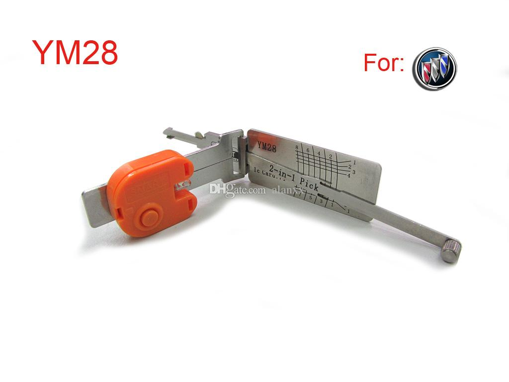 Smart auto 2 in 1 smart decoder and pick tool YM28 lock pick tools locksmith tool for BUILK Opel key shellright