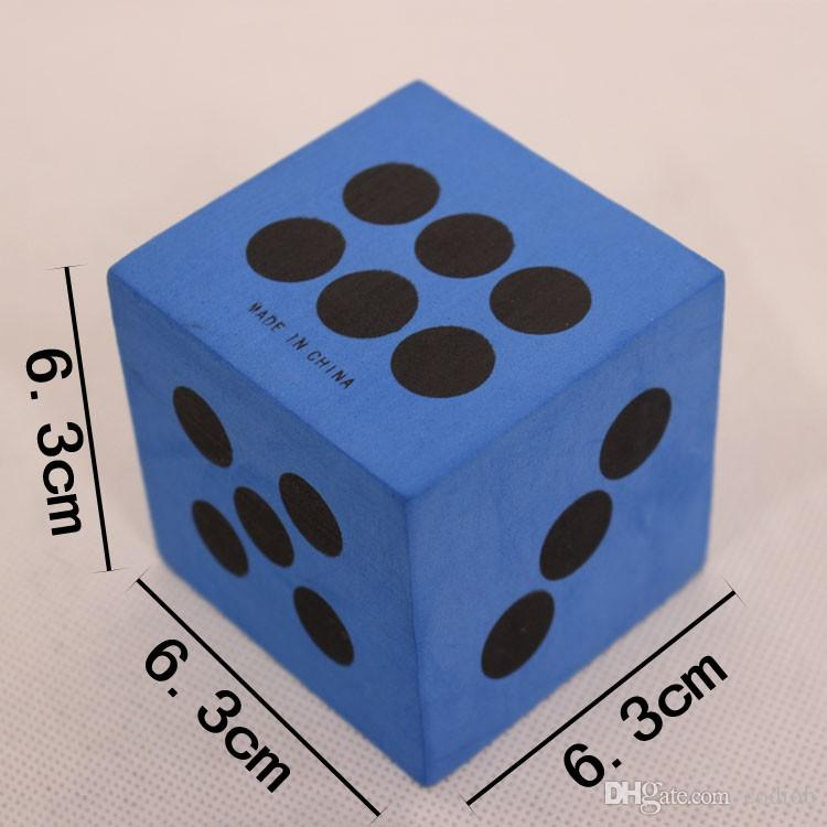 63mm Big Dice EVA Multi Colored Dices Game Activities Product Luck Draw Prop Kids Games Toy Good Price High Quality #S29