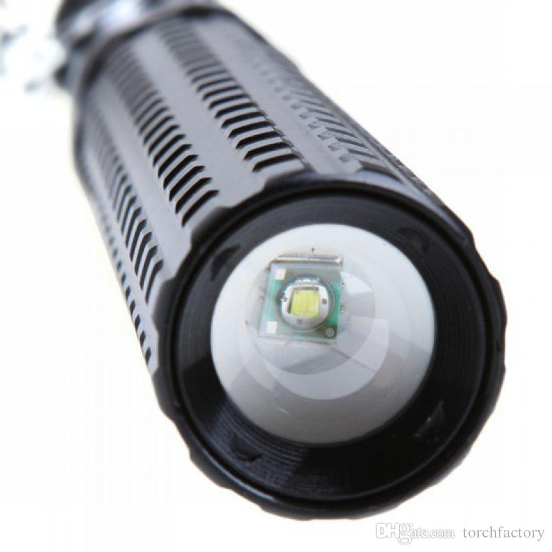CREE Q5 800 Lumens 3 Modes LED Long Flashlight Zoomable Lamp Torch Lamp Led Self-defense Light Lantern For Hunting For 18650 AAA