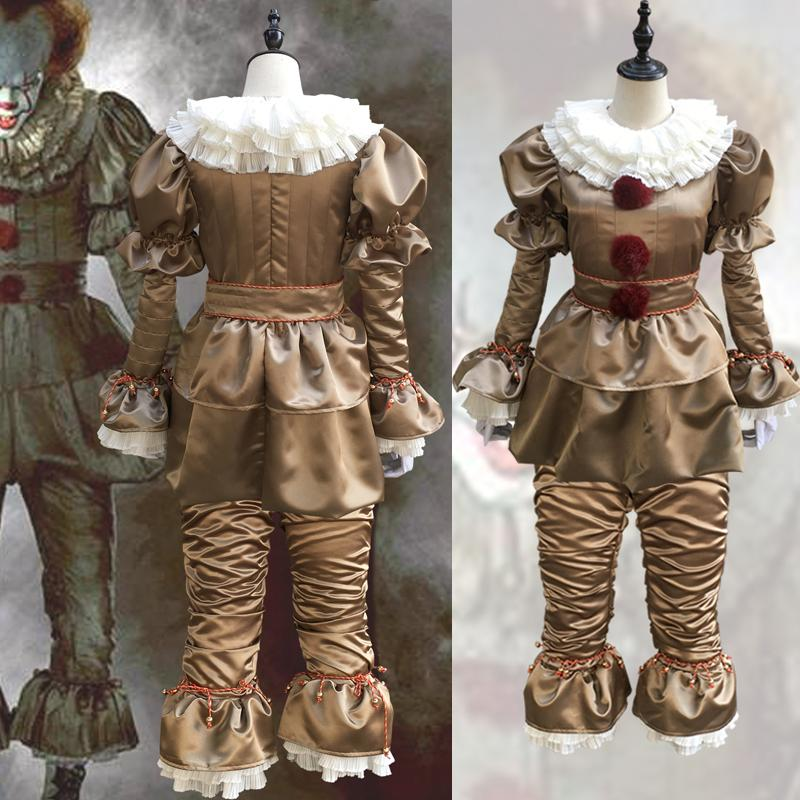 684c9cb27d48 Acquista Costume Cosplay Di Stephen King s It Horror Vestito Da Joker Di  Pennywise Carnevale Costume Di Halloween A  53.81 Dal Newlifehere2017