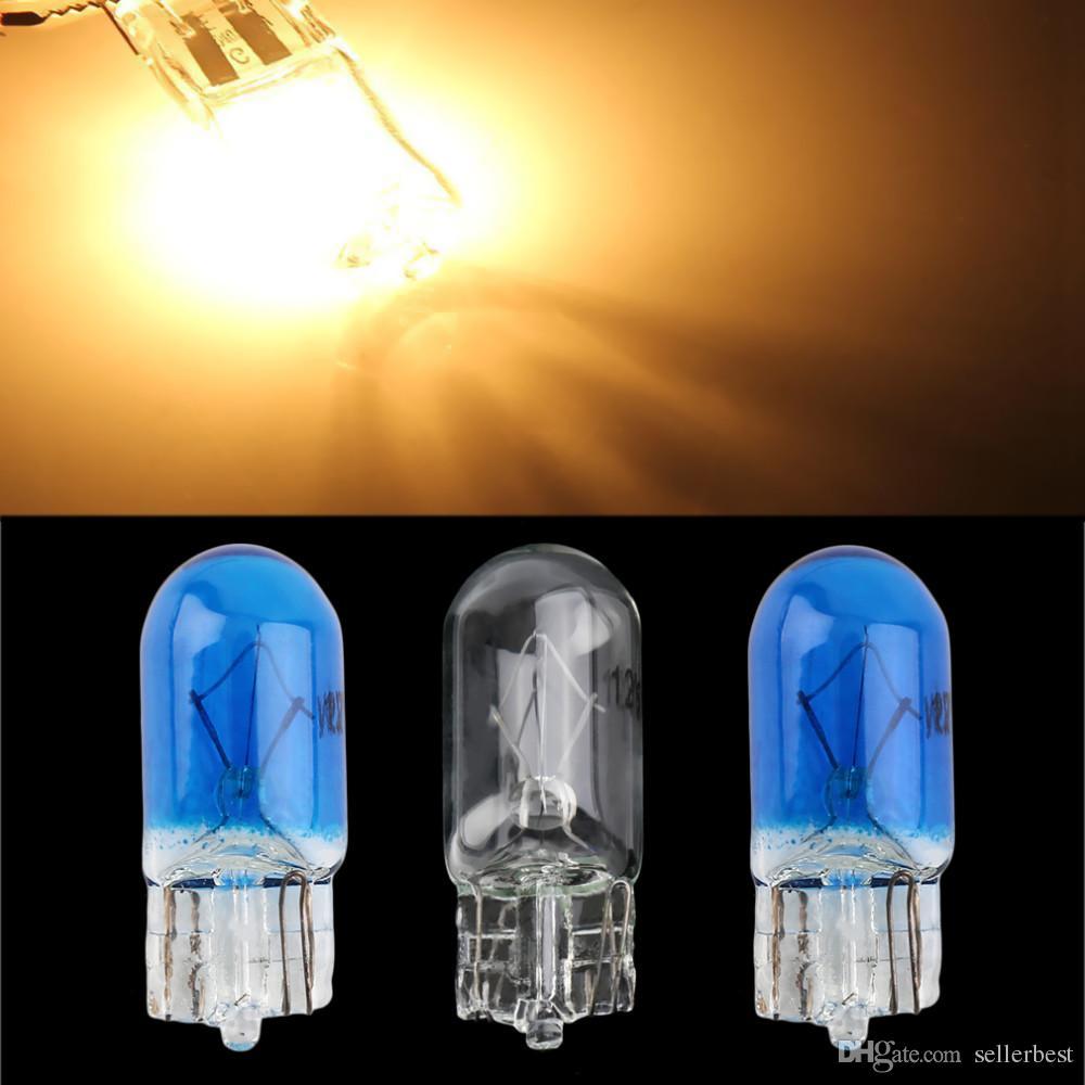 T10 Halogène W5W 194/501 Blanc froid 5W Halogène Ampoule Signal Intérieur de la voiture lampe Lampe voiture styling source de lumière de voiture, parking