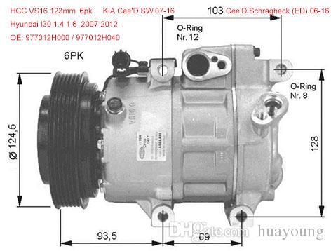 Vs16 Air Con Compressor For Hyundai I30 Kia Cee D 977012h000 977012h001 977012h002 977012h040