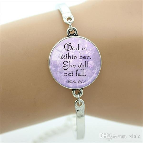 Believed She Could So She Did charm bangle Literary Jewelry Sister hood blue art picture glass dome bangles D148