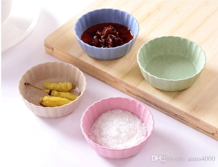 Condimento Piatto Snack Piatto Aceto Salsa di soia Piattino Condimenti Contenitore Cucina Stoviglie Materiale in fibra di paglia di paglia