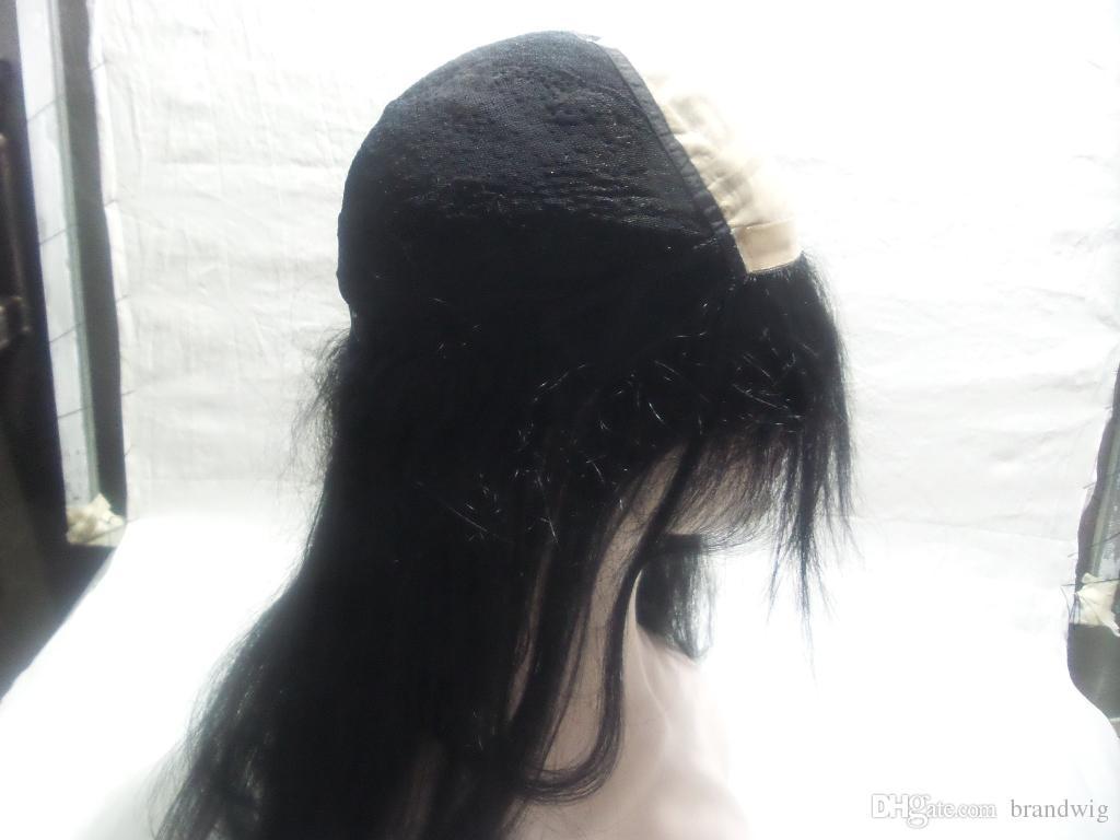 En Kaliteli Siyah Kadınlar Için Tam Dantel İnsan Saç Peruk Boyalı işlenmemiş Bakire Düz Brezilyalı Saç Brezilyalı Tam Dantel Peruk KABELL PERUK