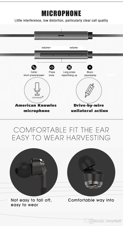 Neue hochwertige Farben Xiaomi Kolben 3 Mode-Design In-Ear-Kopfhörer Kopfhörer Headset Ohrhörer für iPhone 6S S7 Edge Smartphone