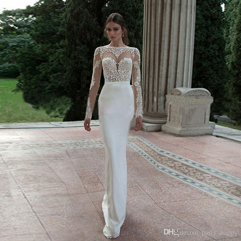 New Spring Backless Evening Prom Dress 2016 White Ms Host Party Dresses Long Cultivate One Morality Show Manica lunga coda sottile