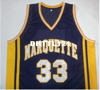 #33 Jimmy Butler Marquette jerseys basketball jerseys,blue,white or  customize Any number Men s Stitched Jersey
