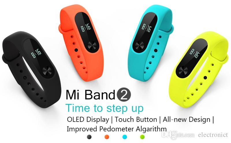 Xiaomi Mi Band 2 Smart Watch Fitness Bracelet Watch Wristband Miband OLED Touchpad Sleep Monitor Heart Rate Mi Band2 Free DHL Shipping