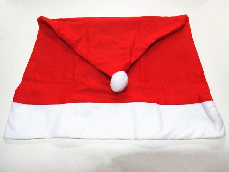 سانتا كلوز كاب كرسي غطاء عيد الميلاد عشاء الجدول حزب الأحمر قبعة كرسي الظهر يغطي عيد الميلاد الديكور 2017 TO89