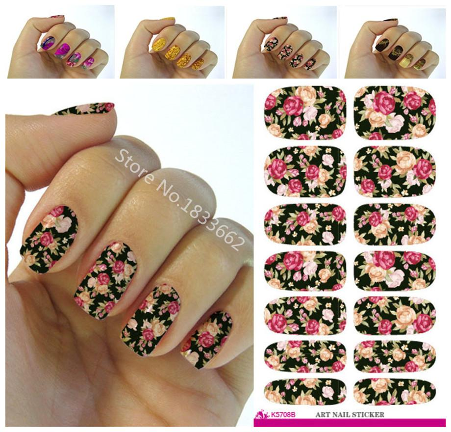 Wholesale K604 New Fashion Water Transfer Foil Nail Stickers All
