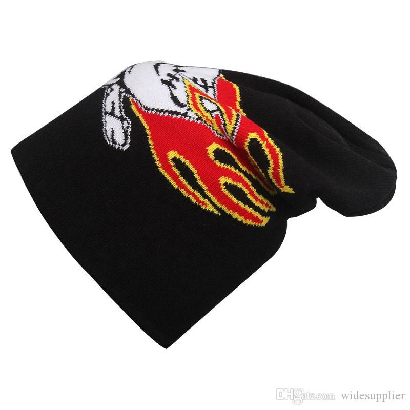 Hot Sales Creative graffiti ski knitted hat cap sports winter Ski knitted hat Headgear acrylic knitted hat monster spider stars skulls