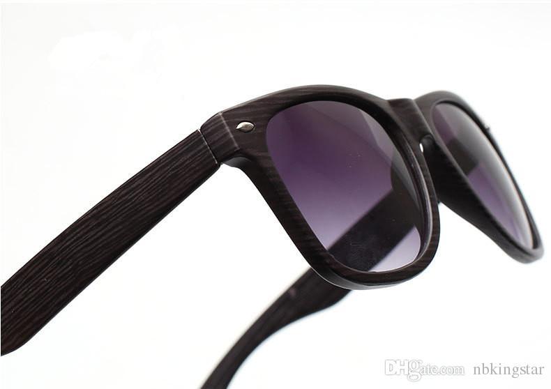 Óculos de sol dos homens de madeira óculos de sol uv400 óculos de sol de impressão de madeira eyewear verão estilo de luxo para as mulheres 12 pçs / lote para frete grátis