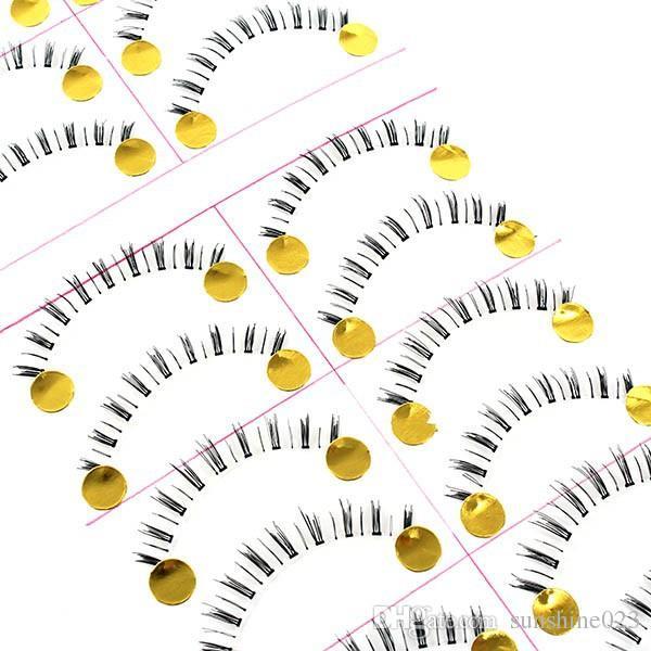 Горячие продажи 10 пар натуральных ручной работы под ресницы накладные ресницы нижние нижние ресницы