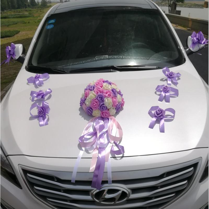 Artificial flowers car decoration sets wedding rose foam flower artificial flowers car decoration sets wedding rose foam flower arrangement garlands wreath wedding table centerpieces party artificial flowers wedding junglespirit Image collections