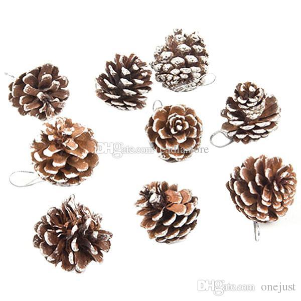 9 real natural small pine cones for christmas craft decorations white paint e00341 ost decorating house for christmas decorating ornaments from onejust - Decorating Large Pine Cones For Christmas