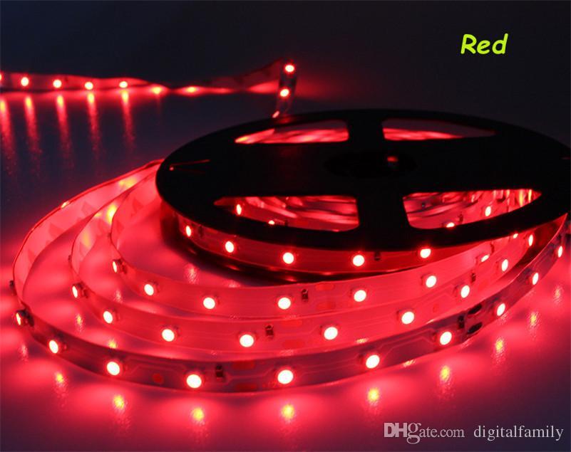 50M الدافئة الأبيض LED قطاع 3528 ضوء غير مقاوم للماء 12V 300 المصابيح 60 المصابيح / م للمنازل الإضاءة الداخلية أبيض أزرق أبيض أصفر أحمر أخضر