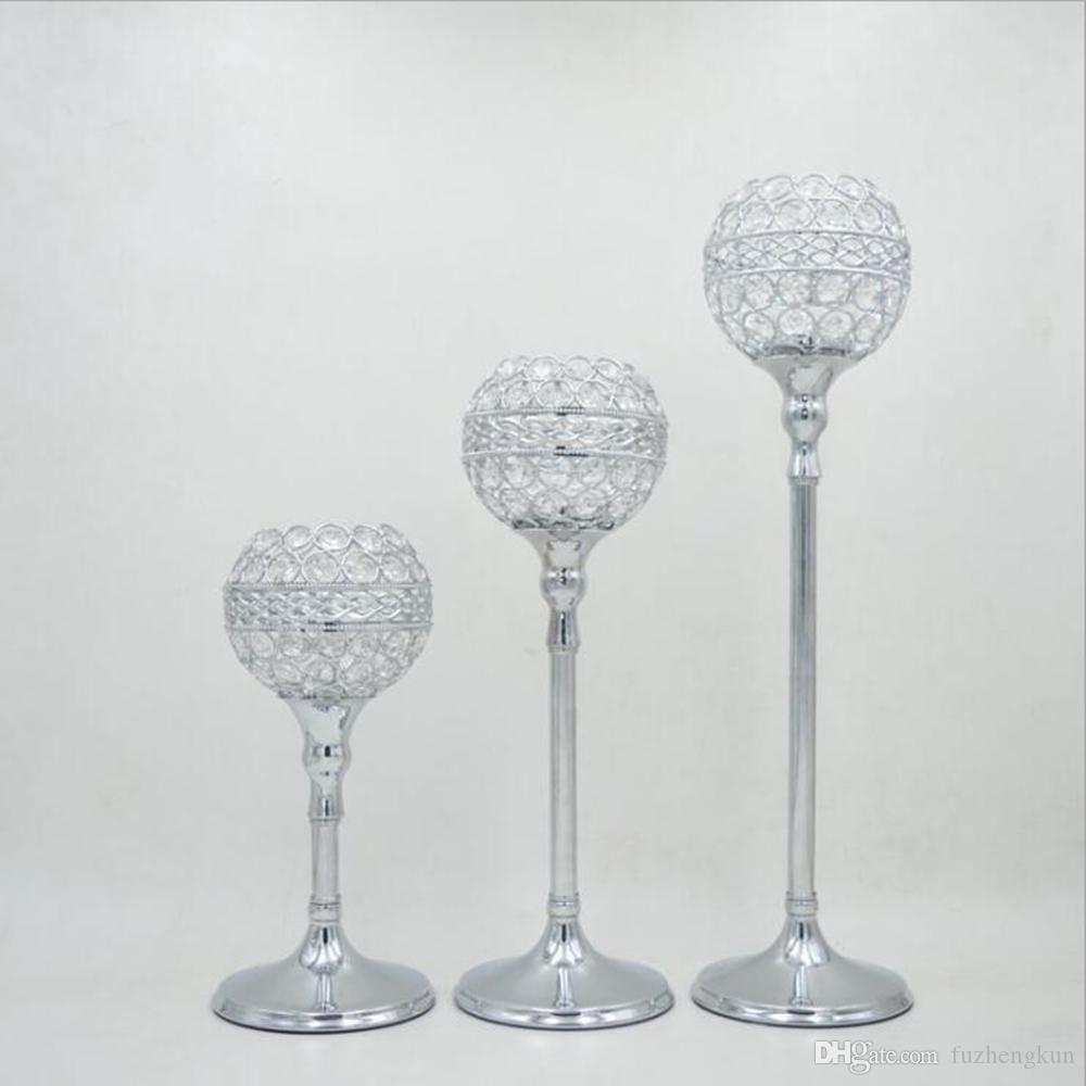 Gold/ Silver crystal wedding decoration candle holders event candlesticks party candle stand centerpiece candelabra =