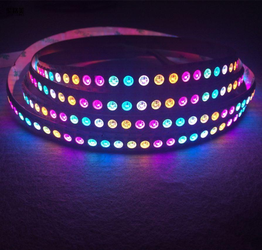 Lights & Lighting Dc12v 5m Ws2811 Led Pixel Strip Light Rgb Full Color 5050 Led Strip Ribbon Flexible Addressable Digital Led Tape 1 Ic Control 3 Punctual Timing Led Strips