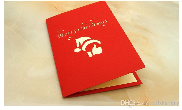 Eccezionale Best Wishes Buon Natale 3D regalo di Babbo Natale Biglietti d  NC69