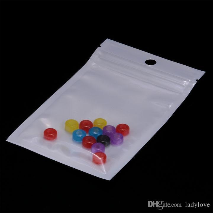 Atacado-Auto Sealing Zip Lock Sacos De Plástico 8x13cm / sacos de embalagem top zip lock bag, estilo claro