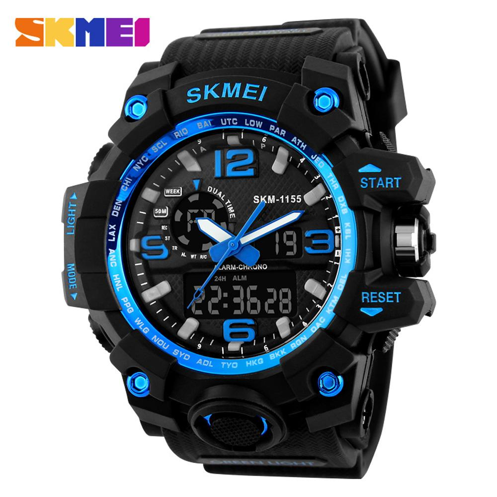 Smart Skmei Calories Pedometer Military Sports Mens Fashion Digital Waterproof Wristwatches Compass Relogio Masculino Strong Resistance To Heat And Hard Wearing Men's Watches