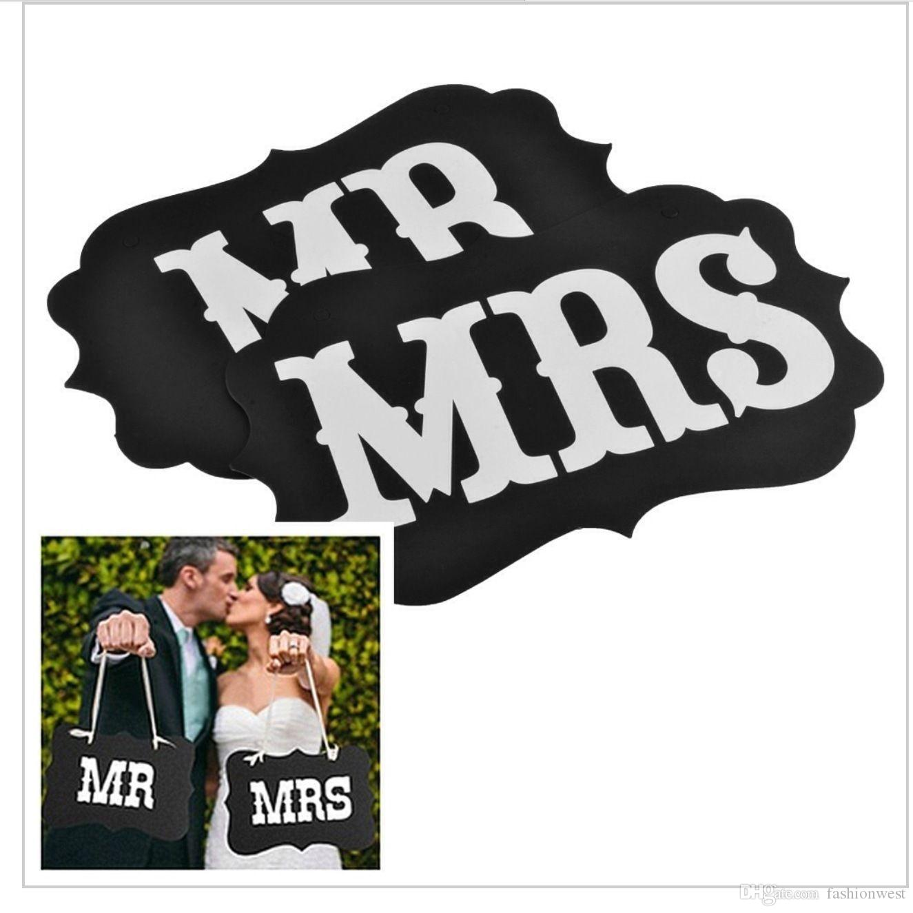 Mr and Mrs photo booth props chair signs, wedding decorations Mr and Mrs Photo Booth Chair Signs Wedding Reception Decoratio