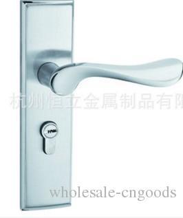 Macchina di blocco porte interne in legno muto con serratura a maniglia in lega di zinco