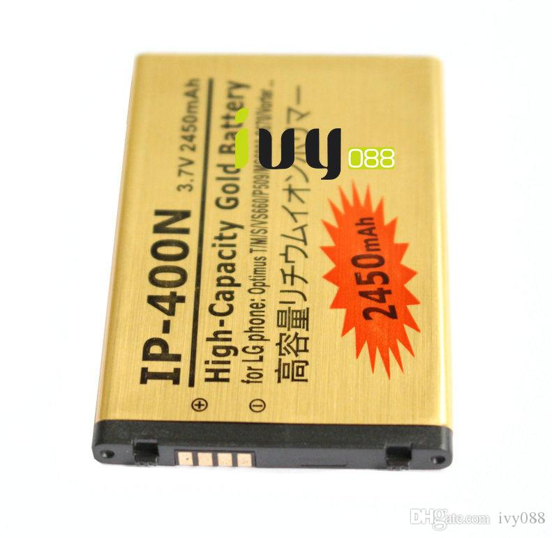 3шт 2450 мАч ИС-400Н золото замена аккумулятор + Универсальное зарядное устройство для LG Оптимус т/м/с VS660 MS690 LS670 P509 Vorter U9400 GT540 GX300 GM750
