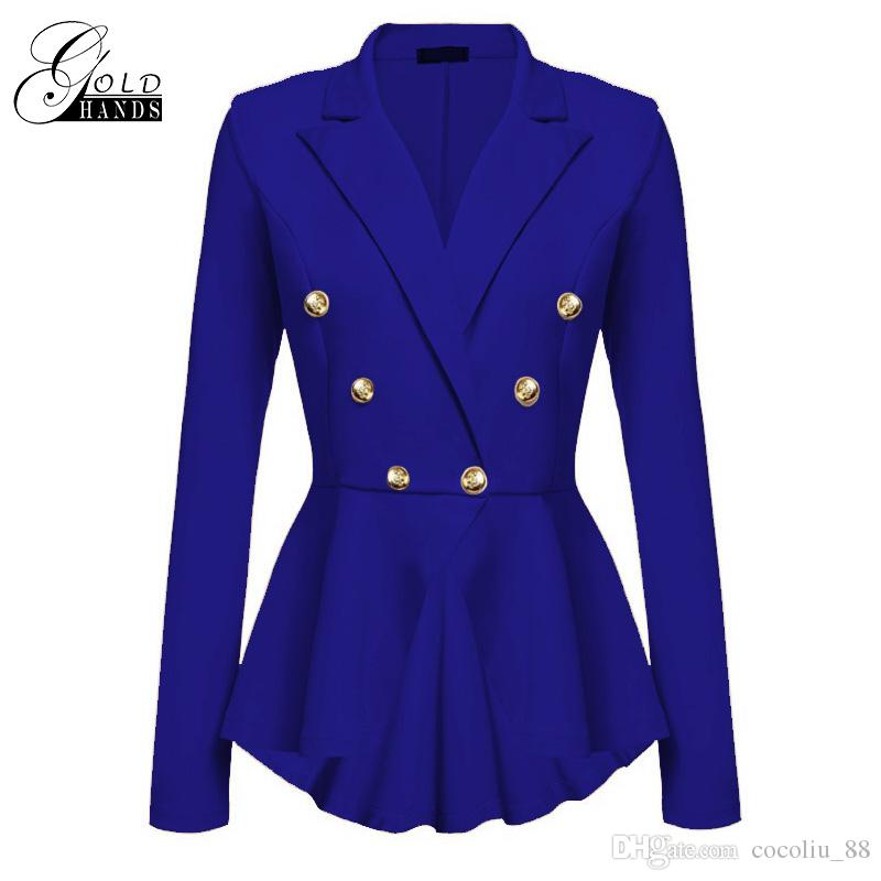 2d58f13a7eb0e Gold Hands 2017 New Female Winter Jackets Elegant Wool Blends Trench ...