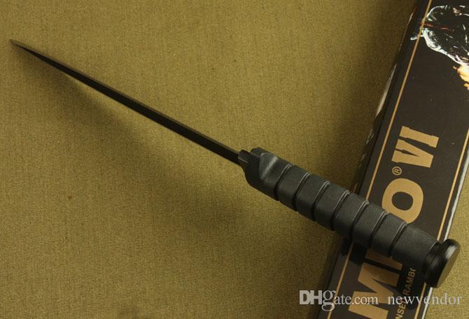 Rambo Double Action survival Coltello dritto Coltello da caccia coltello da caccia rambo Coltelli da campeggio all'aperto con scatola originale