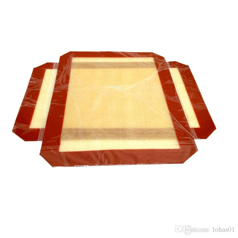 """8.5 X 12"""" Wholesale Large Red Silicone Oil Concentrate Pad Non-stick Silicone Mat"""