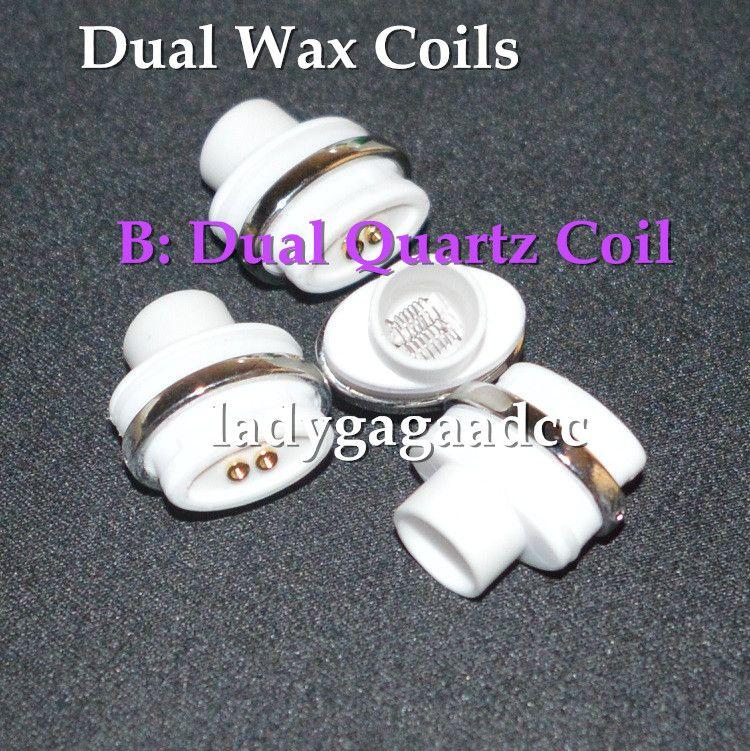 Free DHL Dual ceramic quartz wax coils for micro dry herb g Vaporizer herbal vaporizers pen Wax dry herb atomizer e cig herber vapor cig