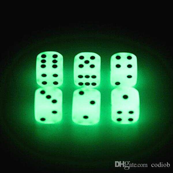 Luminous Dice 16mm D6 Glowing Dice Bosons Drinking Games Funny Family Game For Party Pub Bar Toys Good Price High Quality #S2