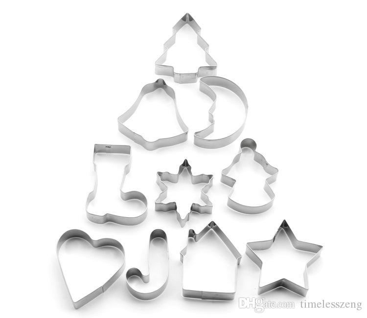 Christmas tree series cookie cutter stainless steel cake mould Christmas fruit mold DIY cookie mold baking tools