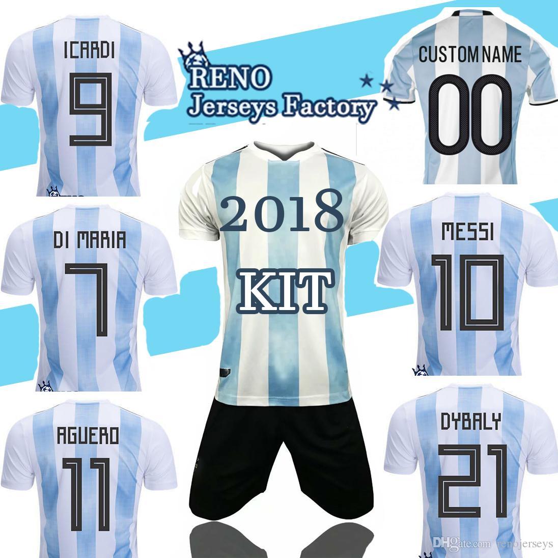 2019 Argentina Home KIT Jersey 2018 19 WORLD CUP National Team White SOCCER  HIGUAIN ICARDI MESSI AGERUO DYBALA DI MARIA Uniforms Football Shirt From ... a31de9e2c