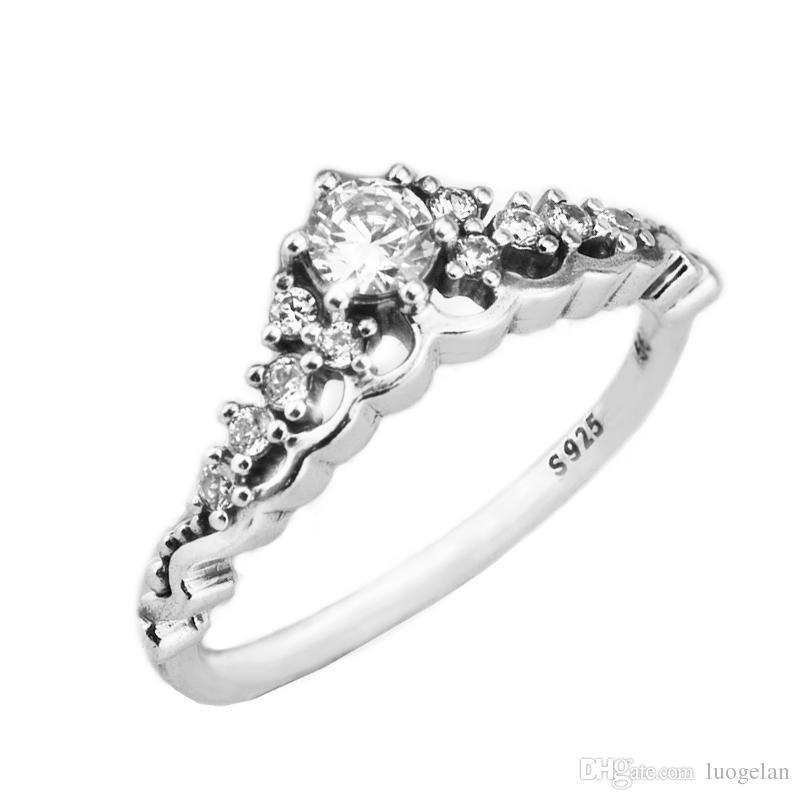 4657759ac7a4 Compre Anillos Compatibles Con Pandora Jewelry Fairytale Tiara Anillo De  Plata Para Mujer Original 100% 925 Sterling Silver Jewelry Anillo Al Por  Mayor A ...
