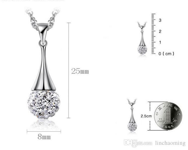 HYWo without chain 925 sterling silver diamond ball full diamond pendant necklace Hypoallergenic jewelry gift for women