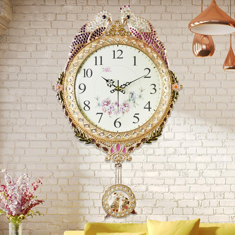 Clock Wall Art q 20 inches fashion large wall clock contemporary creative metal