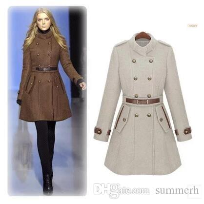 70fbe884bea49 2017 new monde slim women's coats women's trench coats women's coats Women  Outwear Brown woolen coat