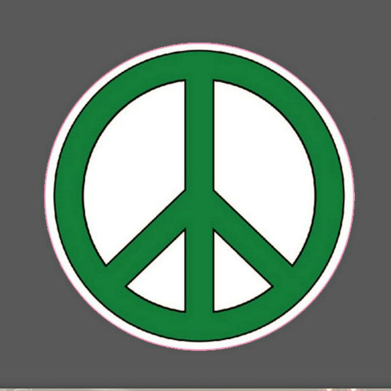 Discount 10 peace sticker smoke sticker world peace love awaken bicycle car sticker decal bumper stickers rainbow peace sign anti war stickers decals from
