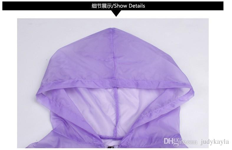 2018ビッグガールズカーディガン日焼け止め服子供長袖ジッパー花コートファッションガール夏のレースフード付き薄いジャケット120-160cm