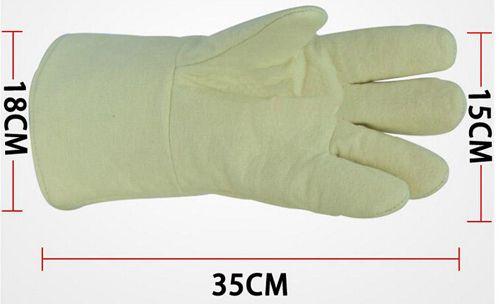 Flame Retardant Glove Anti Scald Gloves High Temperature Resistance Protective Glove Aramid Glove Industrial Welding Working Glove