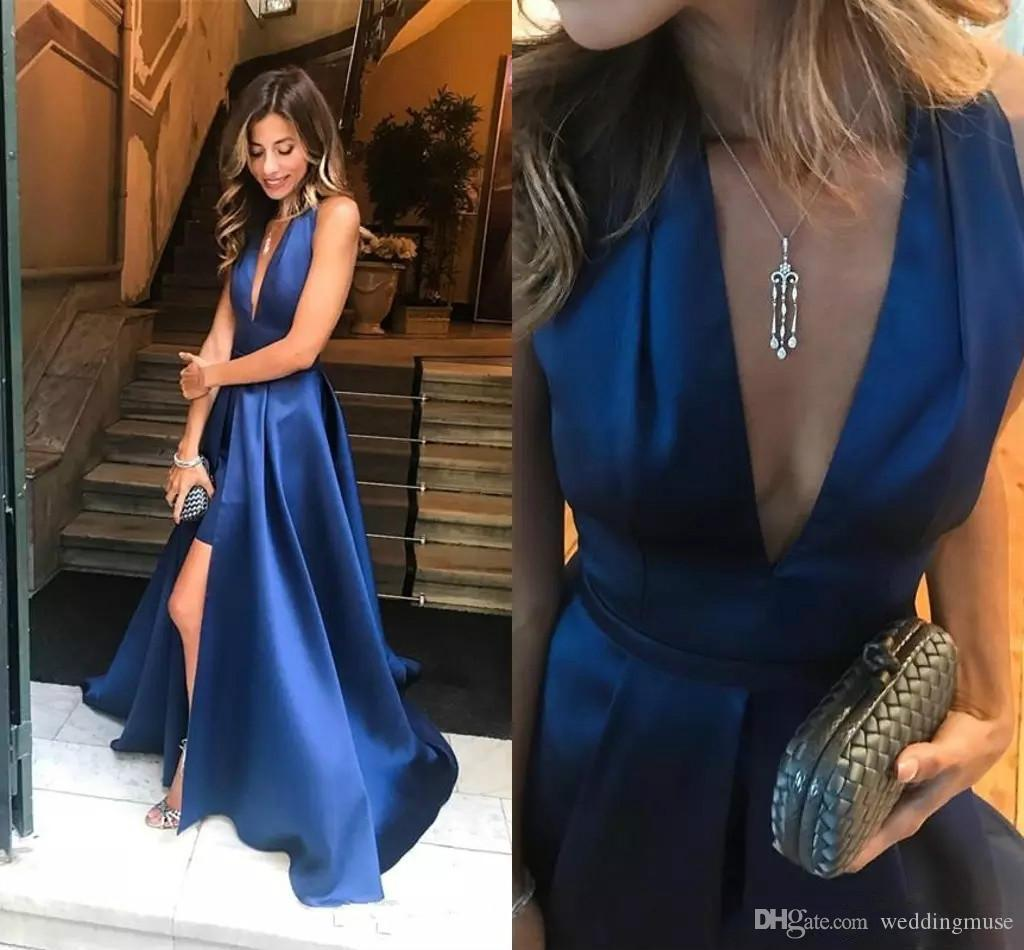 Vestidos formales en azul