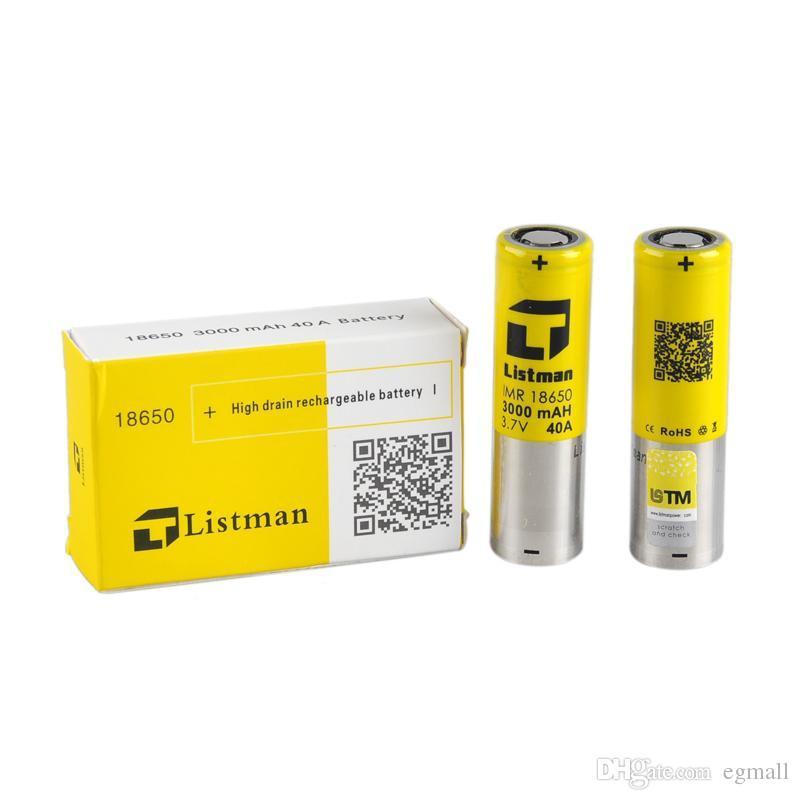 Batterien C Original 18650 Akku Listman Akku 3000mah 40a Besser Als ...