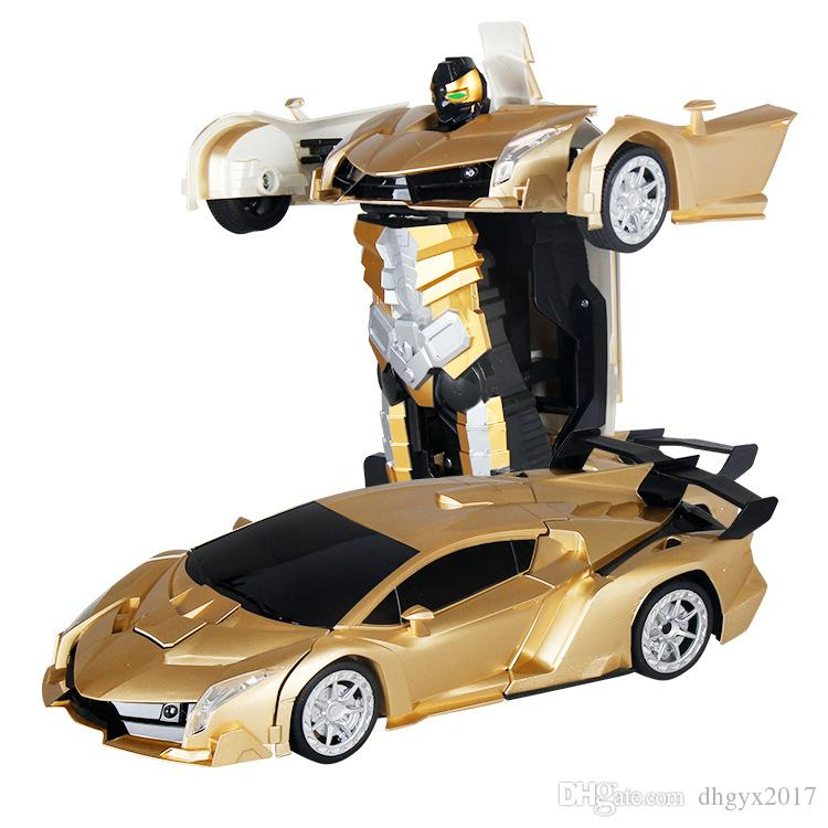 rc car 112 24g luxury sports car models deformation robot transformation remote control rc car toys for kids christmas gift toy radio control cars for