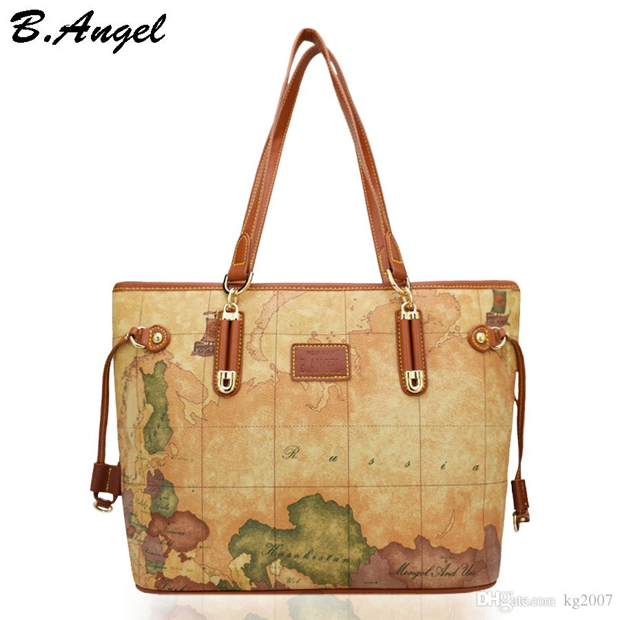 High quality world map women bag fashion handbag high capacity high quality world map women bag fashion handbag high capacity school bags brand design tote bag casual shoulder bags hc z 8102 overnight bags black bags gumiabroncs Choice Image