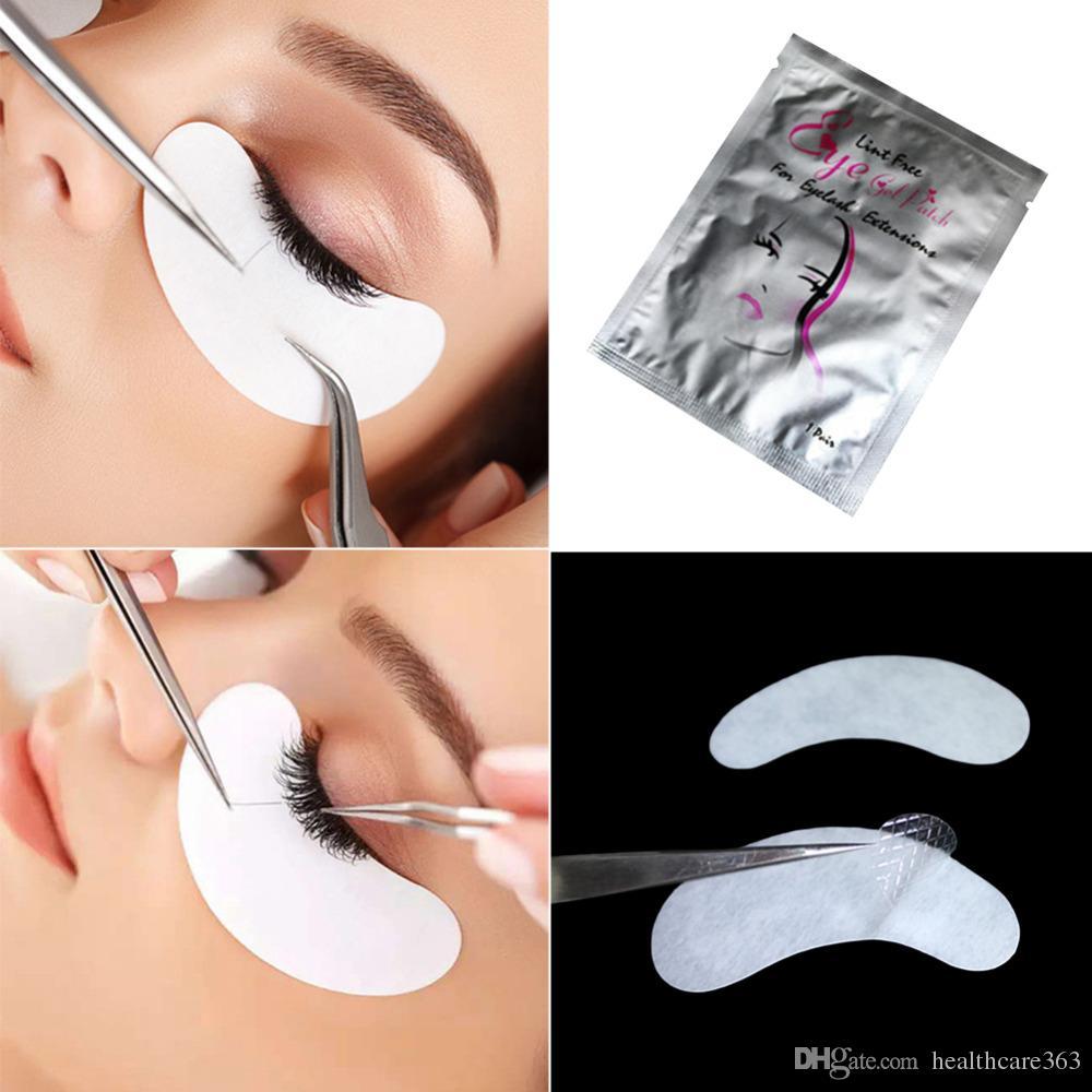100 Paare Gepfropfte Baumwolle Patch Wimpern Augenmaske Patches Wimpernverlängerung Oberfläche Wimpern Papier Aufkleber Lsolation Pad Bilden Werkzeuge