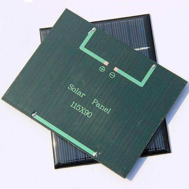 Großhandel! 50 Teile / los 1,5 Watt 12 V Mini Solarzelle Polykristalline Solar Panel Modul DIY Solar Ladegerät 115 * 90 * 3 MM Epoxy Kostenloser Versand
