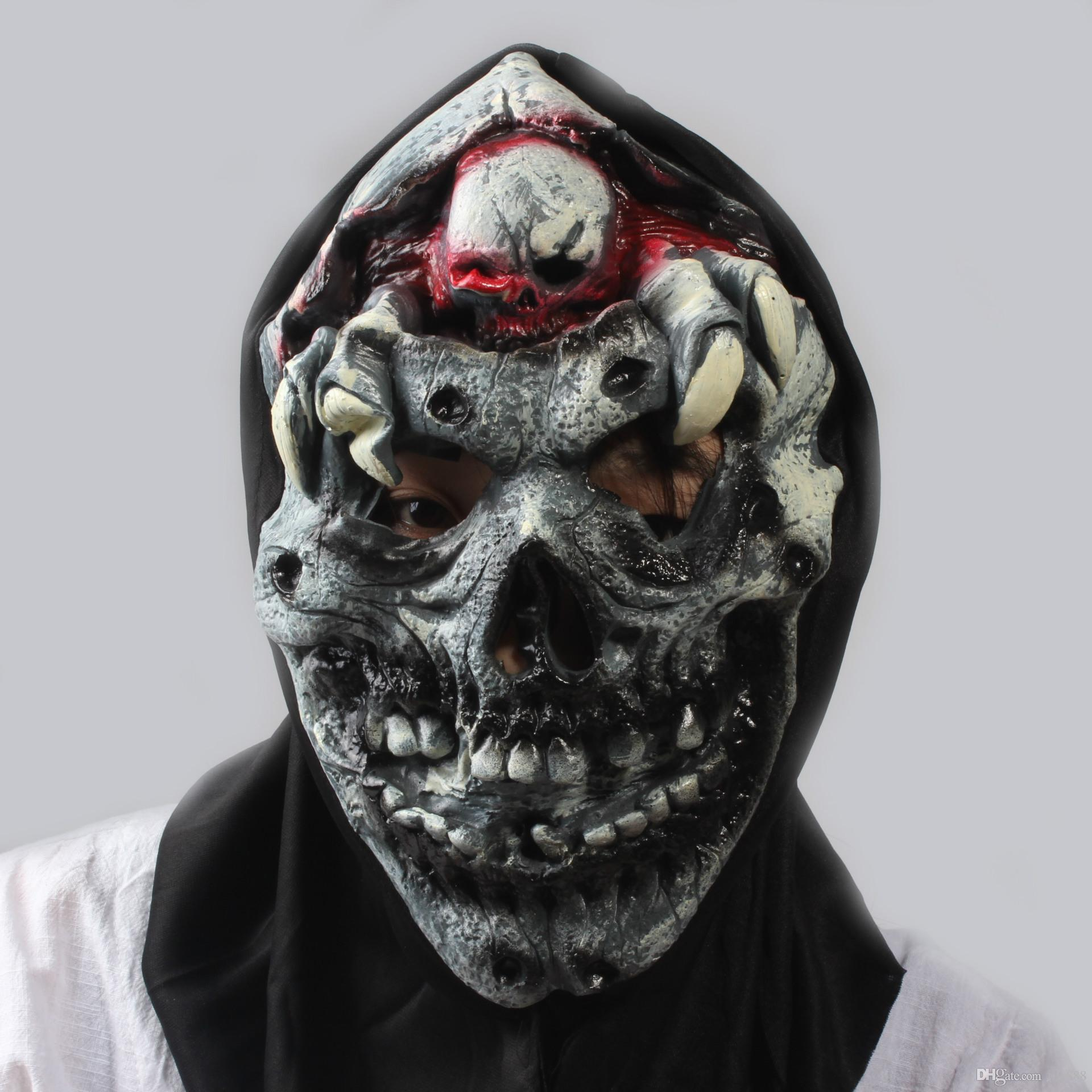 Wholesale Halloween Terrifying Mask Latex Product Ornament In Bra ...